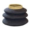 papazois.gr | HotelDeco | THREE TIERS WOOVEN FLOOR BASKET-BE |  | 1272-1181