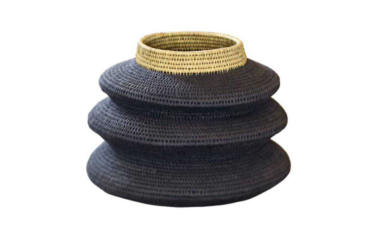 papazois.gr   HotelDeco   THREE TIERS WOOVEN FLOOR BASKET-BE      1272-1181
