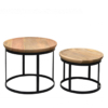 papazois.gr | HotelDeco | DUNCAN SET OF 2-BR |  | 1272-501