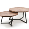 papazois.gr   HotelDeco   OCTAGON SET OF 2-BB      1272-536