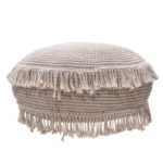 papazois.gr | HotelDeco | POUF WITH FRINGE-TB |  | 1272-873